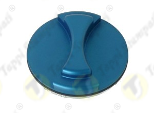 Blue V7 S aluminium tank cap internal bayonet coupling passage diameter 40 mm