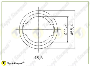 Internal bayonet filler neck passage diameter 40 mm_drawing