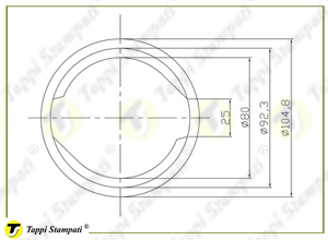 Internal bayonet filler neck passage diameter 80 mm_drawing