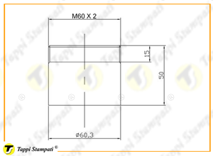 M60X2 threaded filler neck_drawing