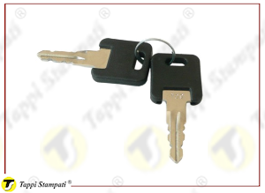 Spare keys with fixed code 100 for tank caps