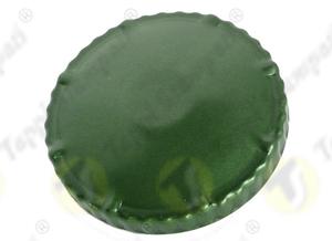 Green D.60 steel tank cap, bayonet coupling passage diameter 60 mm