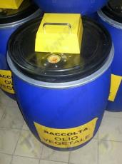 Fixed mechanical fluid level gauge for waste vegetable oil bin