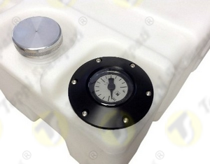 "Fixed mechanical liquid level gauge for nautical tank in combination with 2"" threaded plug"