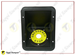 Protective niche for stop Emergency push button switch