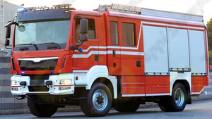 Built in compartment for connection to flexible hose Ø 60 mm with bayonet tank cap for fire fighting vehicles