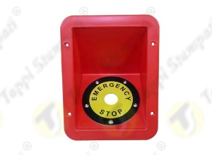 Red protective niche for stop Emergency push button switch