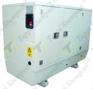 Nicchia di protezione per pulsante di emergenza per cabina insonorizzata di generatore di corrente