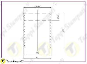 Sistema di carico per tappo indicatore di livello meccanico filettato M80X2_disegno