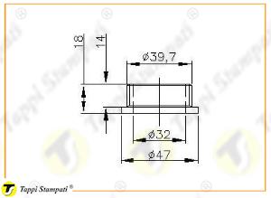 Sistema di carico per tappo serbatoio 950 filettato_disegno