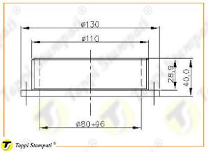 Sistema di carico per tappo serbatoio D.120 filettato_disegno