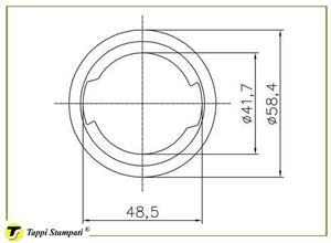 Sistema di carico per tappo serbatoio D.76_disegno