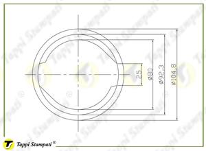 Sistema di carico per tappo serbatoio D.80_disegno