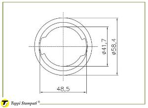 Filler neck for D.96 tank cap_drawing