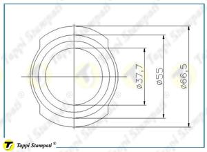 Sistema di carico per tappo serbatoio G2 disegno
