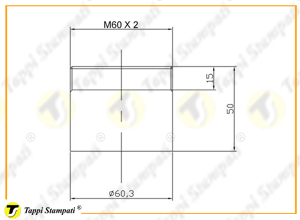 Filler neck for M60X2 threaded tank cap with key_drawing