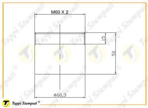 Sistema di carico per tappo serbatoio filettato M60X2 con chiave_disegno