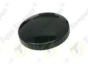 TED fuel tank cap internal bayonet coupling passage diameter 30 mm in steel and stainless steel black painted