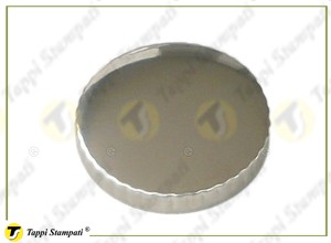 TED fuel tank cap internal bayonet coupling passage diameter 30 mm in steel and stainless steel