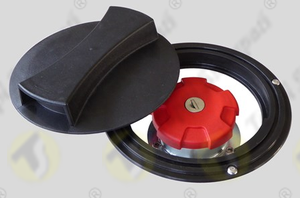Inspection tank cap for generating set canopy