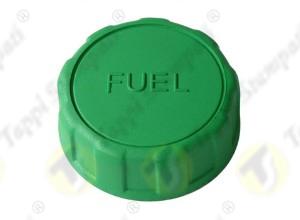 Tappo serbatoio 940 filettato verde passaggio 32 mm in plastica con scritta FUEL