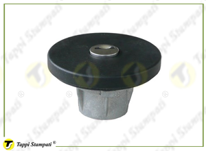 AIR tank cap with key in plastic material, internal bayonet coupling passage diameter 40 mm