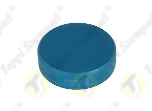ALU blue tank cap female threaded 2