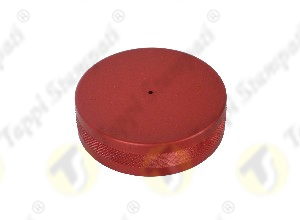 ALU red tank cap female threaded 2
