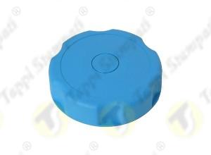 Tappo serbatoio D.40 G 1.1-2 pollici filettato maschio blu in plastica e acciaio
