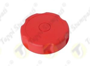 Tappo serbatoio D.40 G 1.1-2 pollici filettato maschio rosso in plastica e acciaio