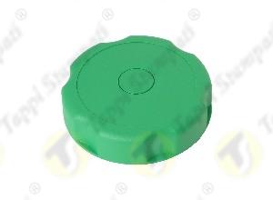 Tappo serbatoio D.40 G 1.1-2 pollici filettato maschio verde in plastica e acciaio