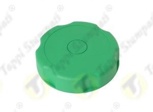 Tappo serbatoio D.40 a baionetta interna passaggio 40 mm in plastica e acciaio verde