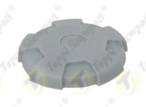 Tappo serbatoio D.76 a baionetta interna passaggio 40 mm in plastica e acciaio grigio