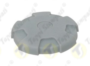 Grey D.76 tank cap, internal bayonet coupling passage diameter 40 mm in plastic and steel