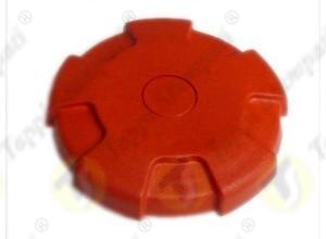 Tappo serbatoio D.76 a baionetta interna passaggio 40 mm in plastica e acciaio rosso