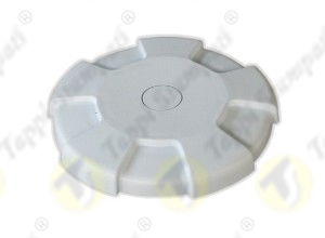 D.96 white tank cap internal bayonet coupling passage diameter 40 mm in plastic and steel with cap covering diameter 96 mm