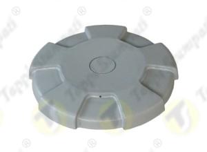 D.96 grey tank cap internal bayonet coupling passage diameter 40 mm in plastic and steel with cap covering diameter 96 mm