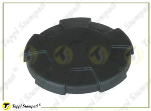 D.96 black tank cap internal bayonet coupling passage diameter 40 mm in plastic and steel with cap covering diameter 96 mm