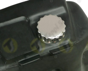IGP threaded tank cap in stainless steel and plastic passage diameter 32 mm for fuel