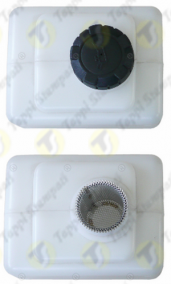 P3 threaded oil tank cap in plastic material passage diameter 32 mm with removable filter