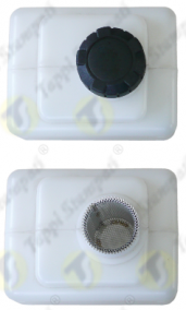 P3 threaded oil tank cap in plastic material passage diameter 32 mm with removable filter for auxiliary tank