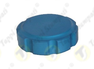 PGE female threaded blue fuel tank cap in aluminum passage diameter 32 mm
