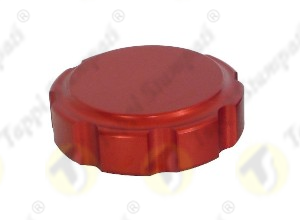 PGE female threaded red fuel tank cap in aluminum passage diameter 32 mm