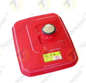 Press fit tank cap in plastic and stainless steel for portable generating set