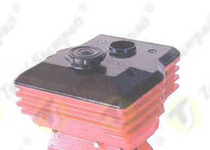 Plastic press fit tank cap for motor pump