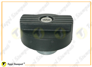 M60X2 female threaded tank cap with key in plastic and steel material