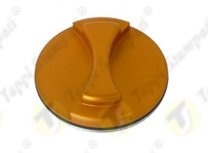 V7 S aluminium tank cap internal bayonet coupling passage diameter 40 mm golden color