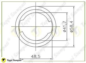 Sistema di carico per tappo serbatoio D.40 con chiave_disegno