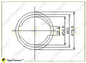 Sistema di carico per tappo serbatoio D.60 BC con chiave_disegno