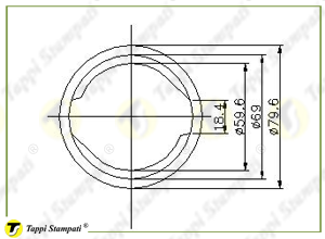 Sistema di carico per tappo serbatoio D.60 con chiave_disegno